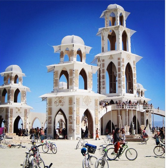 temple burning man 2014